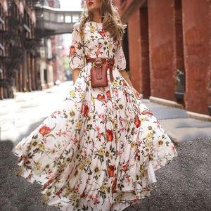 Half Sleeve Boho Dress